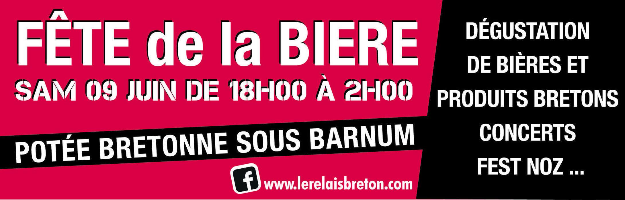 Fête de la bière au Relais Breton affichefdlb