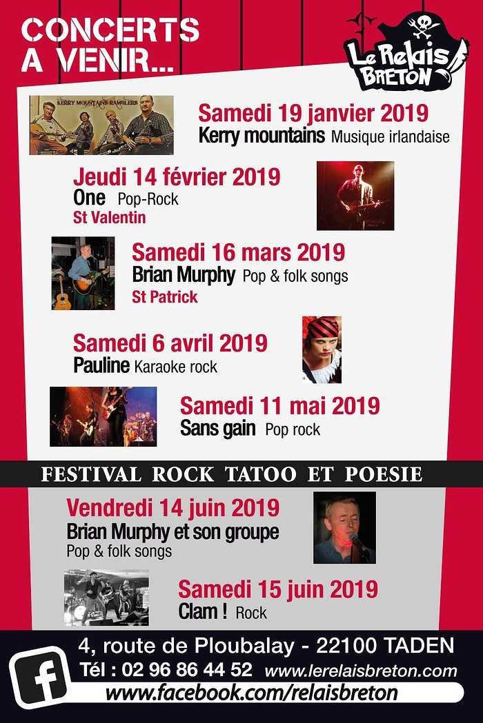 Concerts à venir pour l''année 2019 0